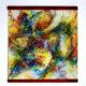 "Kakejiku (scroll painting) Mixed Media on Fiber Art (Polymer-coated and Textile Fiber) 39 cm x 39 cm (15,3″ x 15,3"") 2017"