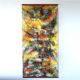 Kakejiku (scroll painting) Mixed Media on Fiber Art (Polymer-coated and Textile Fiber) (24″ x 48″) (61 cm x 121 cm) 2017